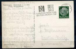 """CPSM S/w AK German Empires Bodenbach 1941 M.Propaganda MWST""""Bodenbach-.DEIN DANK,DEIN OPFER-2.Kriegshilfswerk""""1 AK Used - Allemagne"""
