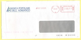 ITALIA - ITALY - ITALIE - 2002 - 00,77€ EMA, Red Cancel - Banca Popolare Dell'Adriatico - Viaggiata Da Pesaro - Affrancature Meccaniche Rosse (EMA)