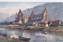 AO61 Tintern Abbey And River Wye - Artist Signed Darren Williams? - Monmouthshire