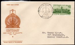 INDIA, 1962 CALCUTTA HIGH COURT FDC - Storia Postale