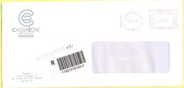 ITALIA - ITALY - ITALIE - 2002 - 002,99€ EMA, Red Cancel - Cassa Edile Della Provincia Di Ravenna - Raccomandata A.R. - - Affrancature Meccaniche Rosse (EMA)