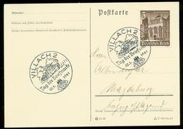 P0601 - DR WHW Auf Postkarte : Gebraucht Mit Sonderstempel Panzer ,Tag Der Briefmarke ,Villach 1941 - Deutschland