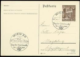 P0582 - DR WHW Auf Postkarte : Gebraucht Mit Sonderstempel U - Boot,Tag Der Briefmarke ,Wien 1941 - Deutschland