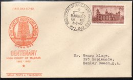 INDIA, 1962 MADRAS HIGH COURT FDC - Covers & Documents
