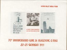 1981-foglietto Con Tre Erinnofili Emesso In Occasione Del 70� Anniversario Gare Di Aviazione A Pisa - 1946-.. République