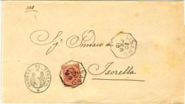 1910-piego Comunale Affrancato 10c.Leoni Annullo Ottagonale Di Visano Brescia - 1900-44 Victor Emmanuel III
