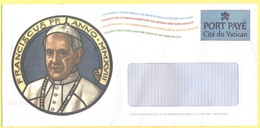 CITTA' DEL VATICANO - VATICAN CITY - 2018 - Papa Francesco - Busta Con Porto Pagato, Port Payé - Vaticano