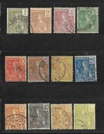 LOT INDOCHINE TYPE GRASSET N° 25.25.26.27.28.29.30.31.32.34.35.37 - COTE = 26.00 € - Used Stamps