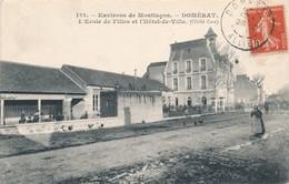 CPA - France - (03) Allier - Domérat - L'Ecole De Filles Et L'Hôtel De Ville - Frankrijk
