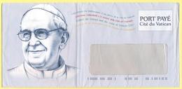 CITTA' DEL VATICANO - VATICAN CITY - 2014 - Papa Francesco - Busta Con Porto Pagato, Port Payé - Vaticano