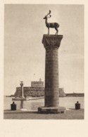 AN01 Rodi Rhodes, L'Entrata Al Porto Fra La Lupa Ed Il Cervo, Simboli Di Roma E Di Rodi - Grecia