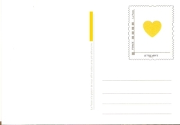 France 2019 - Saint Valentin, Carte Postale Verte Prête à Poster - Entiers Postaux