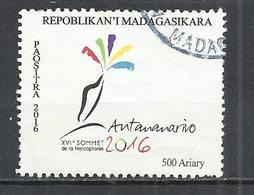 MADAGASCAR 2016 - 16th FRANCOPHONE SUMMIT - OBLITERE USED GESTEMPELT USADO - Madagascar (1960-...)