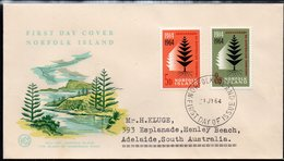 NORFOLK Is, 1964 ANNIVERSARY FDC - Norfolk Island