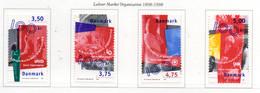 PIA - DANIMARCA -1998 : Centenario Delle Organizzazioni Sindacali -  (Yv   1173-76) - Danemark