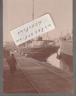 LE FOLKESTONE à Quai (  Photo Cartonnée 8 Cm X 11 Cm ) - Bateaux