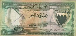 """BAHRAIN 10 DINARS ND 1964 F-VF P-6a """"free Shipping Via Registered Air Mail"""" - Bahrein"""