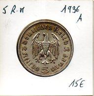 Allemagne. 5 Reichsmarks 1936 A - [ 4] 1933-1945 : Troisième Reich