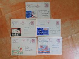 Lot De 5 Entiers Postaux Publibel (J1) - Publibels