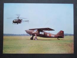 CP MILITARIA (M1617) ARMéE BELGE (2 VUES) Avion Dornier, Moteur Lycoming 270 HP MOTOR + Hélicoptère - Matériel
