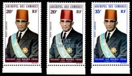 COMORES 1973-75 - Yv. PA 50 51 & 69 (=50s) ** SUP Bdf - Président Saïd Mohamed Cheikh (3 Val.)  ..Réf.AFA23150 - Komoren (1950-1975)
