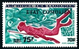 COMORES 1975 - Yv. PA 76 (=44 Surch.) ** SUP - Chasse Sous-marine  ..Réf.AFA23164 - Komoren (1950-1975)