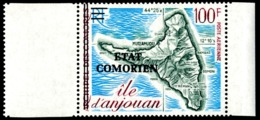 COMORES 1975 - Yv. PA 81 (=49 Surch.) ** SUP Bdf - Carte De L'île D'Anjouan  ..Réf.AFA23171 - Komoren (1950-1975)