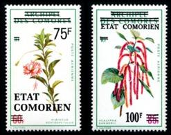 COMORES 1975 - Yv. PA 75 (=37s) Et 80 (=38s) ** SUP Var. - Fleurs Hibiscus Et Acalypha (2 Val.)  ..Réf.AFA23179 - Luftpost