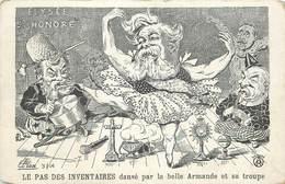 LE PAS DES INVENTAIRES Dansé Par La Belle Armande Et Sa Troupe,carte Illustrée Par Lion. - Satiriques