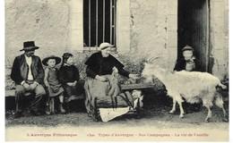 Auvergne - Types D'auvergne - La Vie De Famille - Personnages