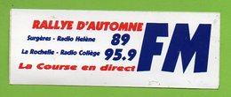 RADIO HELENE RADIO COLLEGE FM RALLYE D AUTOMNE ► AUTOCOLLANT 878 ► - Autocollants