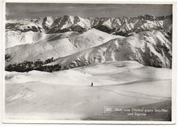 OBERSAXEN Blick Vom Titschal Gegen Sez-Ner Und Signina Ski-Läufer - GR Grisons