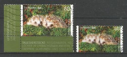 BRD 2014  Mi.Nr. 3048 + 3054 , Tierkinder - Igel - Selbstklebend + Naßklebend - Gestempelt / Used / (o) - BRD
