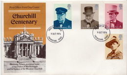 Great Britain Set On FDC - Sir Winston Churchill