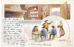 Auvergne - Un Intérieur Auvergnat, 1902 - Personnages