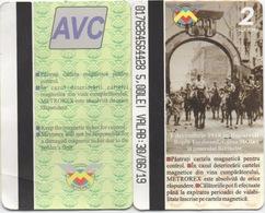 Lot De 2 Tickets Du Métro à Bucharest Roumanie - Europe