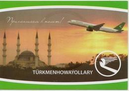 Calendar Ukraine 2012 - Turkmen Airlines - Aircraft - Aircraft - Minaret -  Advertising. - Calendriers