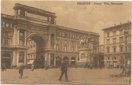 W1195 Frienze - Piazza Vittorio Emanuele / Viaggiata 1914 - Firenze