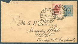 1904 Russia Uprated Stationery Cover Moscow - Kingsley Hotel, Hart Street, London - 1857-1916 Imperium