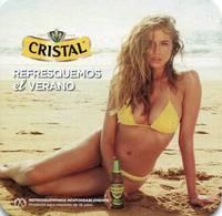 Lote CH11, Chile, Posavaso, Coaster, Cristal, Modelo, Botella - Portavasos