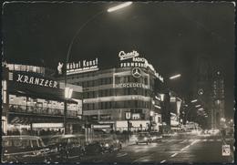 Ansichtskarte Berlin Kurfürstendamm Reklame Auto Mercedes VW Cafe Kranzlers - Unclassified