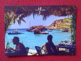 POSTAL POST CARD CARTE POSTALE PUBLICITARIA PUBLICIDAD ADVERTISING IBIZA BALEARIC ISLANDS SPAIN CAN YUCAS BAR RESTAURANT - Publicidad