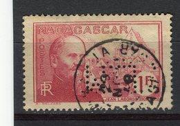 MADAGASCAR - Y&T N° 203° - Jean Laborde - Perfin - Perforé - Madagascar (1889-1960)