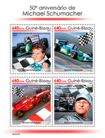 Guinea Bissau. 2019 50th Anniversary Of Michael Schumacher. (0109a)  OFFICIAL ISSUE - Automovilismo