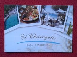 POSTAL POST CARD CARTE POSTALE PUBLICITARIA PUBLICIDAD ADVERTISING IBIZA BALEARIC ISLANDS SPAIN EL CHIRINGUITO CALA VER - Publicidad