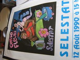 Tomi Ungerer , Affiche , Corso Fleuri Selestat 1990 , érotique - Posters
