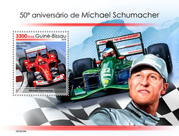 Guinea Bissau. 2019 50th Anniversary Of Michael Schumacher. (0109b)  OFFICIAL ISSUE - Automovilismo