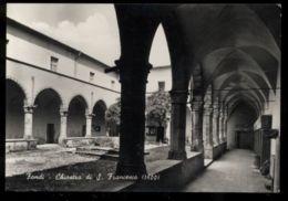 C779 FONDI (LATINA) - CHIOSTRO DI SAN FRANCESCO B\N VG 1964 - Italia
