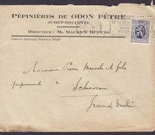 Belgium PÉPINIÉRES DE ODON PÊTRE Jumet-Brulotte Slogan Flamme CHARLEROI 1931 Cover Lettre ETTELBRÜCK Luxembourg - Belgien