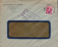 Belgium E. CHERMANNE & P. HORGNIES, CHARLEROI 1928 Cover Lettre IMPRIMES Line Cds. !! - Belgien